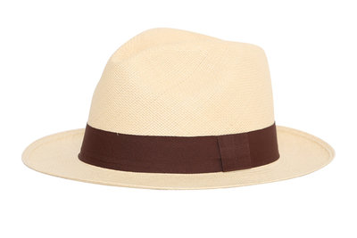 Panama Hut Fedora Natural (5cm rand)