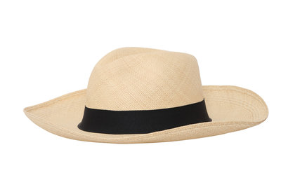 Panama Hut Fedora Natural (10 cm rand)